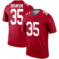 Legend TJ Brunson Youth New York Giants Red Inverted Jersey - Nike