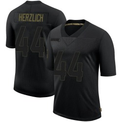 Limited Mark Herzlich Youth New York Giants Black 2020 Salute To Service Retired Jersey - Nike